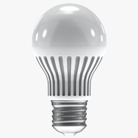 3d model light bulb led