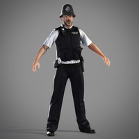 British Policeman 3D models