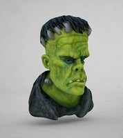 3d model frankenstein head s