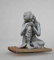 3d silver buddha