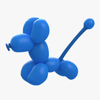 balloon poodle 3d model