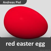 egg red 3d c4d
