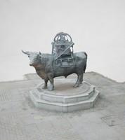 bull statue 3d max