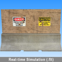 3d real-time openflight flt model