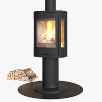 3d model of contura 880 fireplace