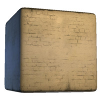 Grungy Painted Basement Bricks