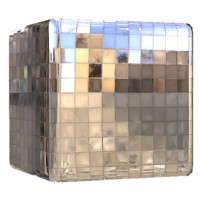 Chrome Disco Wall Metal