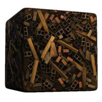 Cinder-block rubble