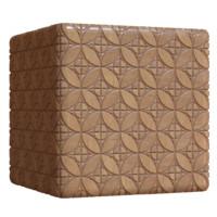 Circle Square Wood Tiles