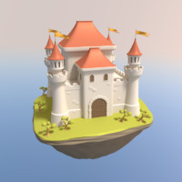 3d model cartoon castle