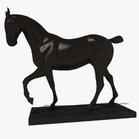 3d elegant horse statuette model