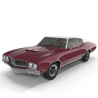 muscle car buick gs455 3d x