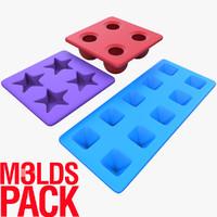 molds ice pack 3d model