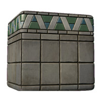Concrete Block with Tile Detail