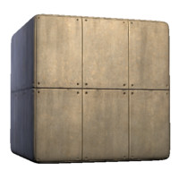 Concrete Paneled Wall with Bolts