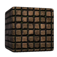 Square Brick Cobblestones Clean
