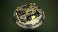 3d biological container pbr model