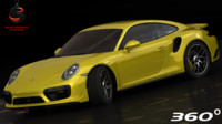 3d realistic porsche 911 turbo model