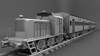 train coach 3d obj