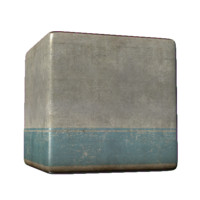 Concrete Wall with Painted Stripe
