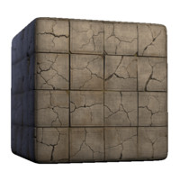 Cracked Concrete Squares