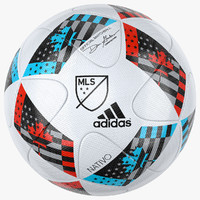 mls soccer ball 2016 3d model