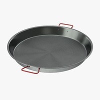 3d carbon steel paella pan