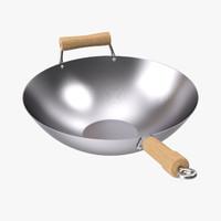 carbon steel wok 3d max