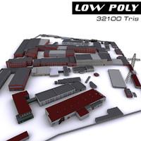 industrial site 3d model