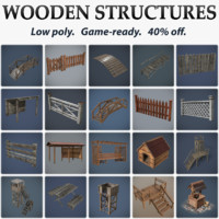 Collection of Wooden Structures