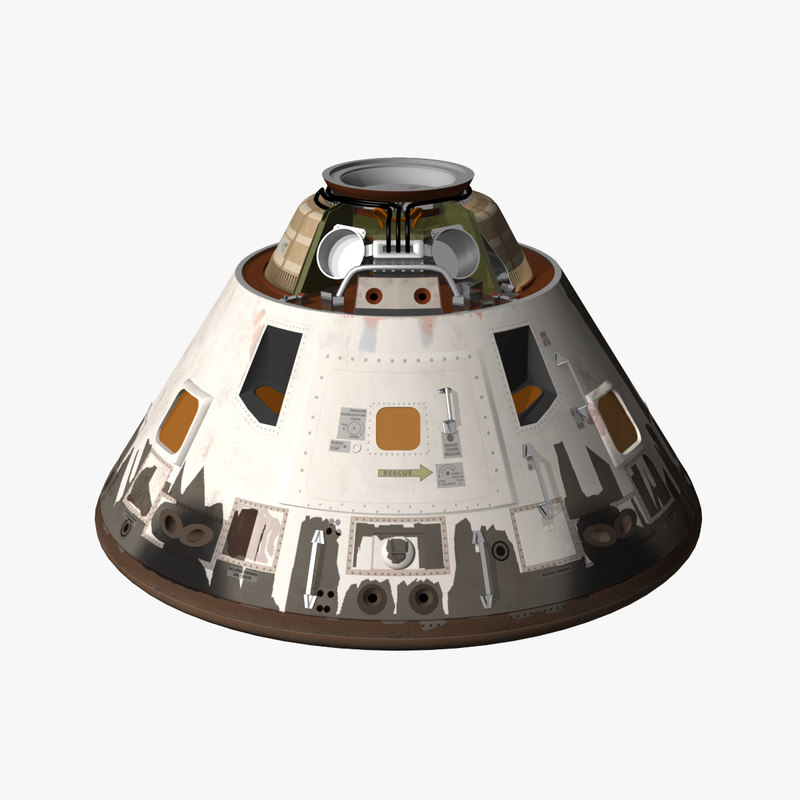 reentry apollo command module 3d model
