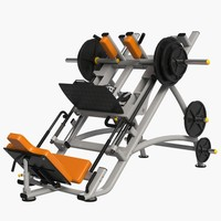 gym equipment leg press 3d max