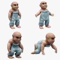 3d model child 4 pose