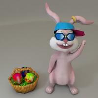 3d model bunny easter