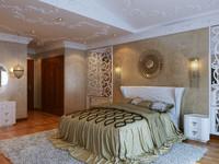 3d interior master bedroom model
