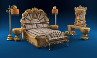 bed giardino italiano 3d model