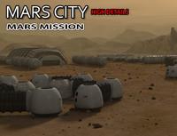 3d model mars city
