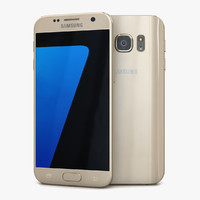 3d model samsung galaxy s7 gold