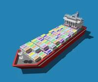 container ship crane c4d