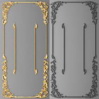 stucco decor frame 3d max