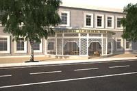 street cafe 3d dxf