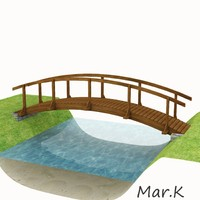 wooden bridge 3d 3ds