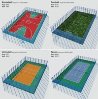 playgrounds sports 3d model