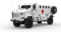 3d max kraz shrek ambulance