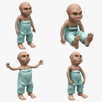 child 4 pose 3d max