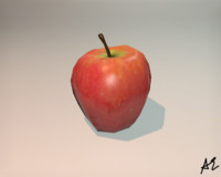 3d model apple realistic video