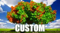 tree custom plants 3d model