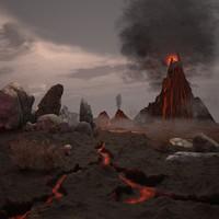 volcano 3d 3ds