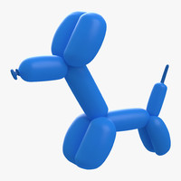 3d balloon dog model