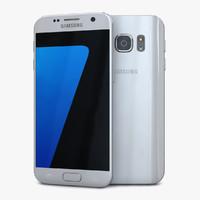 samsung galaxy s7 silver 3d model